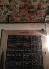 The board of beer at The Butcher's Hook